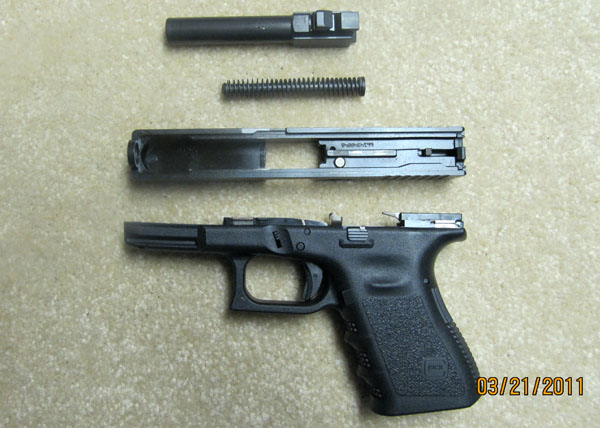 Glock 19 Field Stripped