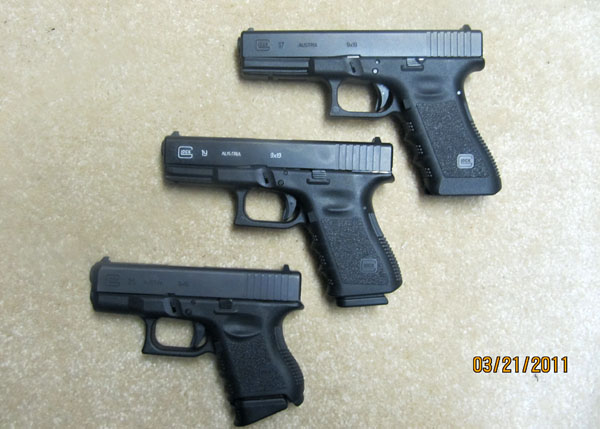 Glock 19 VS Glock 17 and Glock 26