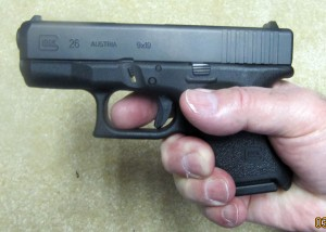 Glock 26 Griped with Standard Magazine