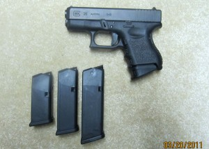 Glock 26 with 10, 15, 17 Round Magazines