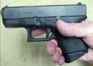 Glock 26 with Magazine Pearce Extension
