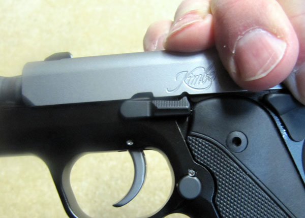 Kimber Solo Take Down Align the Disassembly Notch with Slide Stop Tab