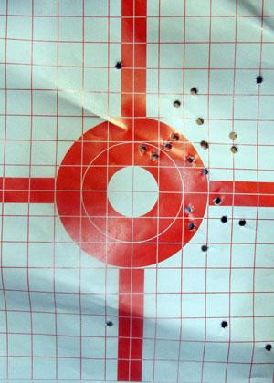 Kimber Solo Target at 15 Yards