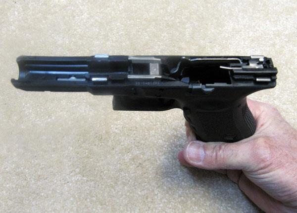 Glock 17 Frame rails, Trigger mechanism