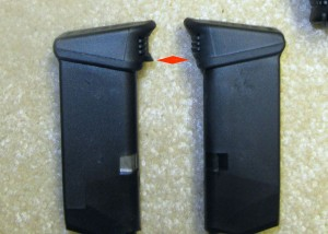 Glock 26 Extended Magazine Before and After