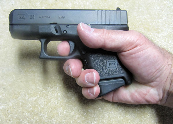 Glock 26 with Pearce Grip Extension