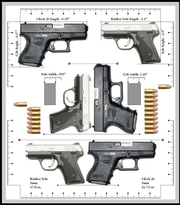 Kimber Solo vs Glock 26