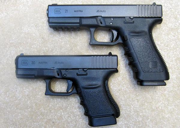 Glock 21SF vs Glock 30
