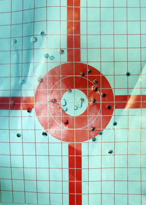 Kimber Solo Target with nice group at 15 Yds