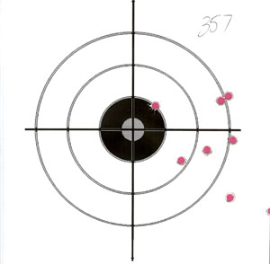 Smith Wesson 686P 357 Magnum at 15 Yards