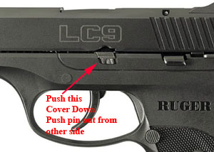 Ruger LC9 Take Down Pin Cover