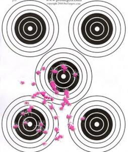 50 rounds American Eagle 124 grain 21 feet