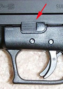 Springfield XD Take Down Lever like Sig Sauer